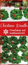 christmas wreath u2013 cornflakes and marshmallows