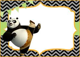 creative kung fu panda invitations