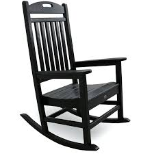 Metal Patio Rocking Chairs Black Outdoor Rocking Chairs Outdoor Furniture Yacht Club 3 Piece