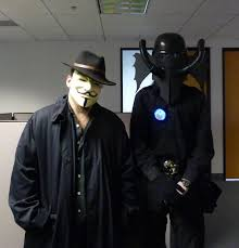 v for vendetta costume v for vendetta and containment suit 2012 by wireball on