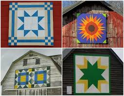 Barn Quilt Art The Red Feedsack Wooden Quilt Square And A Winner