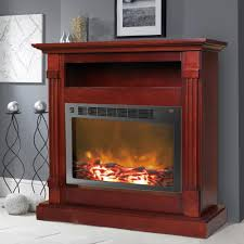 northwest 34 in wall mount oval glass electric fireplace in black