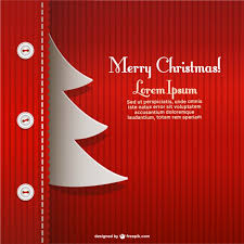 creative christmas card template vector free download