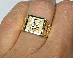 mens vintage rings images 14k solid gold men signet ring men 39 s gold pinky ring jpg