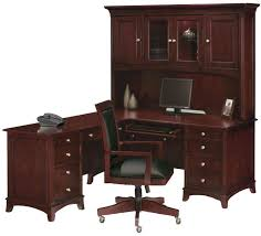 Black L Shaped Desk With Hutch Corner L Shaped Office Desk With Hutch Black And Cherry