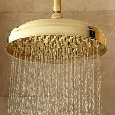 lambert rainfall nozzle shower head with extended arm bathroom