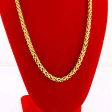 mens byzantine necklace gold images Collar chain 18k yellow gold filled byzantine necklace gift 45cm jpg