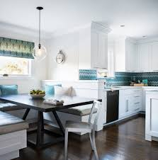astonishing breakfast nook kitchen transitional with glass front