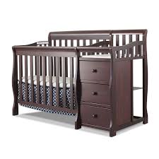 sorelle newport 2 in 1 convertible crib and changer with mattress
