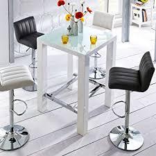 bartisch küche küchen bartisch mit glasplatte weiß hochglanz pharao24 de