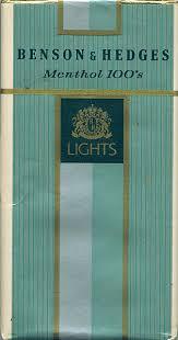 benson hedges menthol 100 s lights 20us198