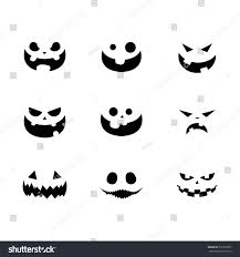 halloween pumpkin faces vector illustration stock vector 331657067