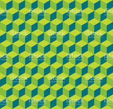 seamless 3d cube pattern background texture stock vector art