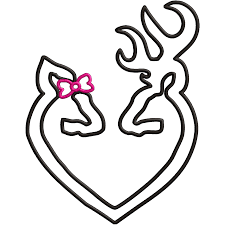 buck and doe heart browning buck and doe heart clip clipart free clipart