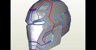 27 iron man mark 42 helmet 1 8 print u0026 cut cardboard with