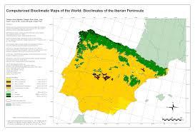 Spain Portugal Map by Bioclimatic U0026 Biogeographic Maps