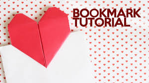 heart shaped writing paper kawaii diy origami heart bookmark youtube