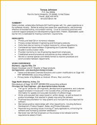 free sample qa release note tester sample resume resume sample