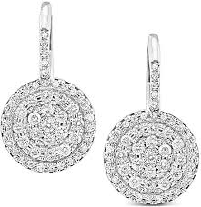 circle earrings 14k white gold pave diamond circle earrings kce2579