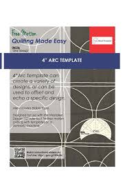 quilting freemotion template 4