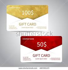 gift card discount set gift cards discount cards templates stock vector 402301123