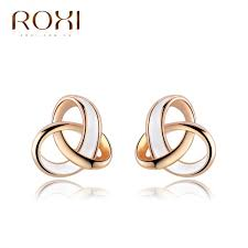 earrings brand roxi brand earring for women gold plated jewelry new fashion