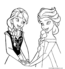 raskraska elza elsa frozen coloring pages