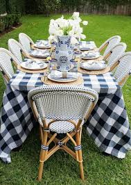 Patio Tablecloth Round Best 25 Outdoor Table Settings Ideas On Pinterest Dinner Party
