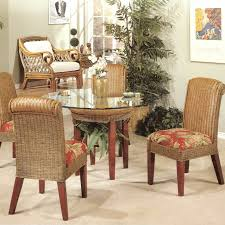 indoor wicker dining table panama 5 piece dining set