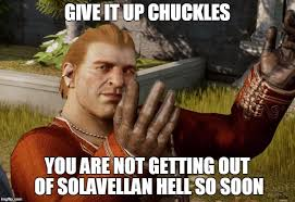 Dragon Age Meme - image tagged in dragon age inquisition solavellan hell romance