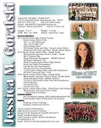 Sample Athletic Resume by Lacrosse Resume Sports Resumes Recruiting Flyers Pinterest