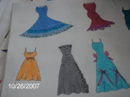 my 1st sketches of dresses by nicole20092002 on deviantart