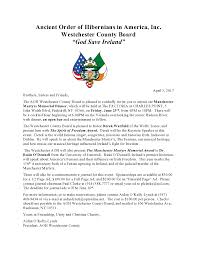 aoh westchester county board u2013 manchester martyrs memorial dinner