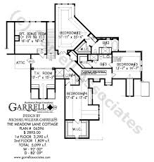 floor plans for craftsman style homes meadow cottage house plan house plans by garrell associates