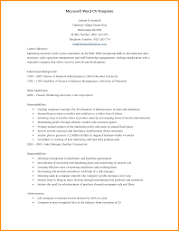 Word Formatted Resume 16 Resume On Ms Word Bird Drawing Easy