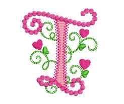 Create Monogram Initials Letter T Applique Machine Embroidery Design Monogram Initials