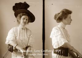 women show the latest pompadour hairstyles 1909 glamourdaze