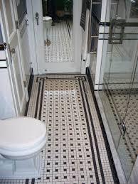 Retro Bathroom Rugs Vintage Tile Rug Black And White Retro Renovation