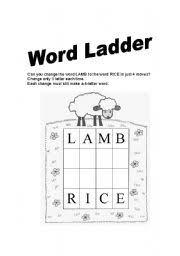 english worksheets word ladder worksheets