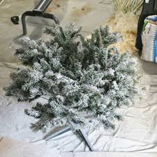 how to flock a tree and greenery sand and sisal