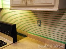Backsplash Tile Paint by Paint Your Backsplash Sawdust And Embryos All Things Thrifty