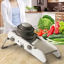 mandoline cuisine professionnel ttlife 304 lames en acier inoxydable légumes cutter réglable