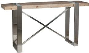 stainless steel console table buy pacific lifestyle camden natural fir wood and stainless steel