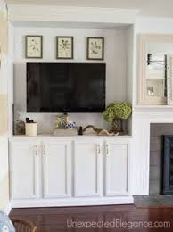Fireplace Bookshelves by Living Room Office Combination Built In Bookshelves Desk Tv