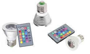 magic light 3 watt led color changing light bulbs with remote