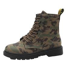 lace up moto boots vintage round toe lace up camouflage motorcycle boots oasap com