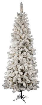 flocked pacific pencil tree traditional trees by