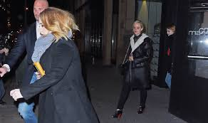 emma stone and jennifer lawrence friends adele emma stone and jennifer lawrence have dinner together in new