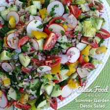 Garden Salad Ideas Summer Garden Detox Salad Clean Food Crush