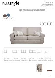 Couch Sizes by Adeline Sofa By Softnord Free Uk Delivery